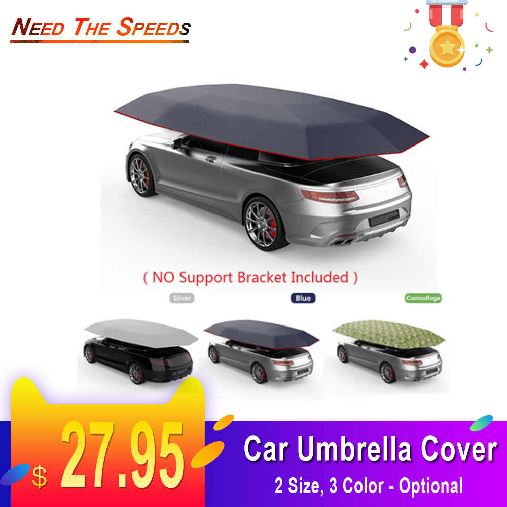450x230 400x210cm Car Tent Roof Cover Umbrella Oxford Cloth Sun Shade Shelter Outdoor UV Protection Without Skeleton No Bracket