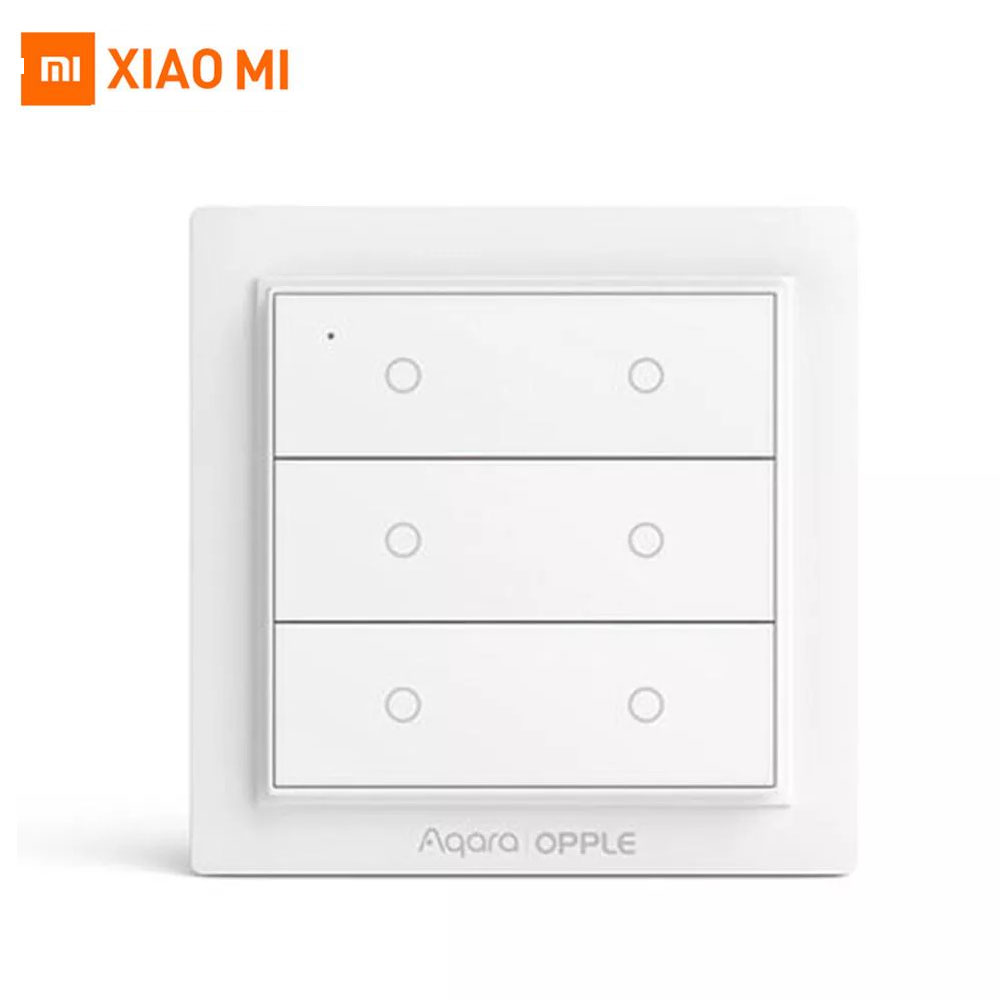 2020 Xiaomi Aqara Opple Smart Switch Zigbee 3.0 6 Gang International Version With Aqara App Apple HomeKit No Wiring Required