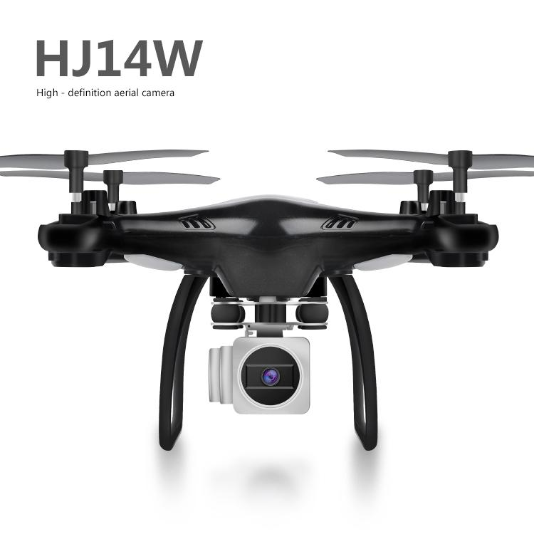 RC Helicopter <font><b>HJ14W</b></font> Wi-Fi Remote Control Aerial Photography Drone HD Camera 200W Pixel UAV Gift Drone Camera Toy image