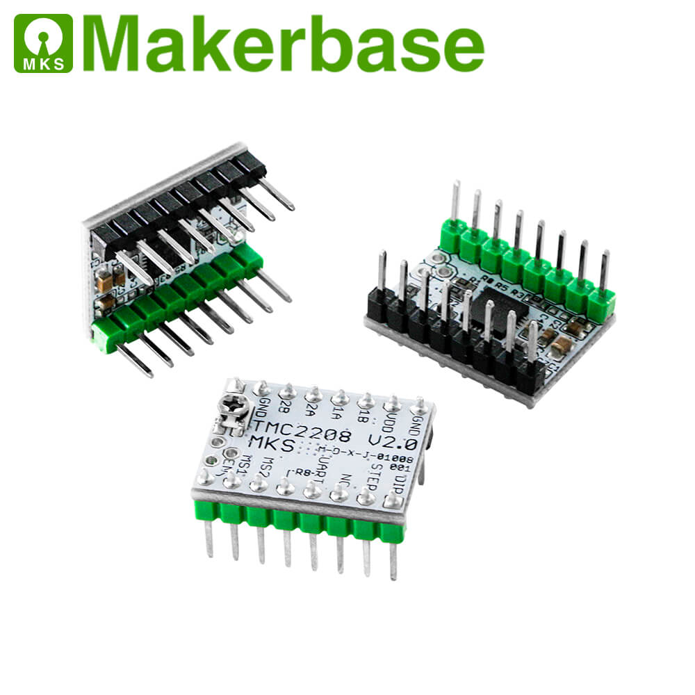 1Pc TMC2209 V2.0 Stepper Motor Driver /& 1Pcs Heatsink /& 1Pcs Screwdriver
