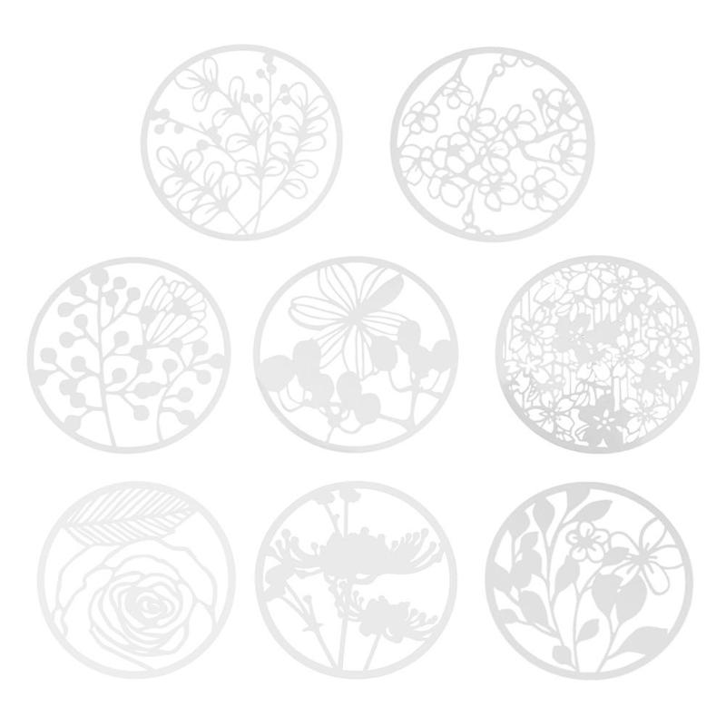 Creative Round Flower Hollow Ruler Drawing Template For DIY Scrapbooking