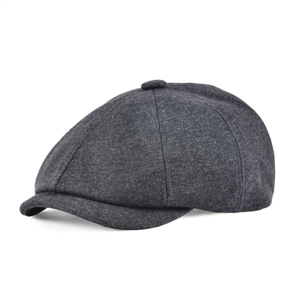 VOBOOM Cotton Newsboy Caps Men Large Size Flat Hats Cabbies Classic Driver Baker Boy Hat 8 Panel Headpiece 321