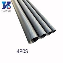 4PCS Twill Matte 3Kคาร์บอนไฟเบอร์Circularหลอดความยาว500มม.ความแข็งสูงOD 8มม.10มม.12Mm 16Mm 20Mm 25Mm 30Mm