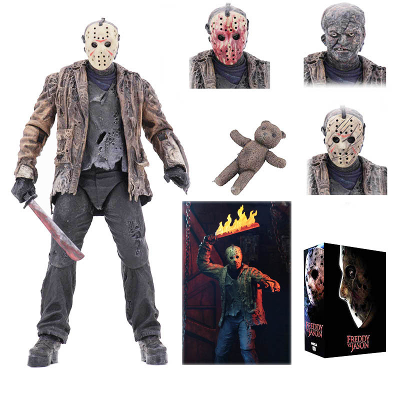 """NECA Freddy vs Jason Friday the 13th Jason Voorhees Ultimate 7/"""" Action Figure"""