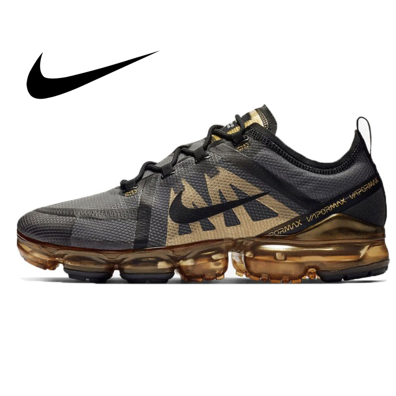 Original Nike Air VaporMax 2019 Men's Running Shoes Comfortable Mesh Breathable Good Quality Sport Outdoor Sneakers AR6631-002