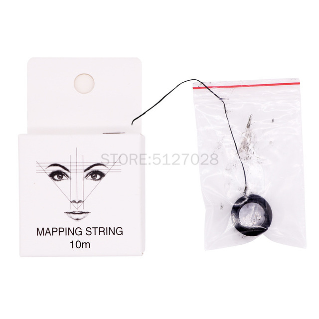 10m Microblading Mapping String Pre-Inked Eyebrow Marker thread Tattoo Brows Point Line Tool Eyebrow Pencil Marking Line