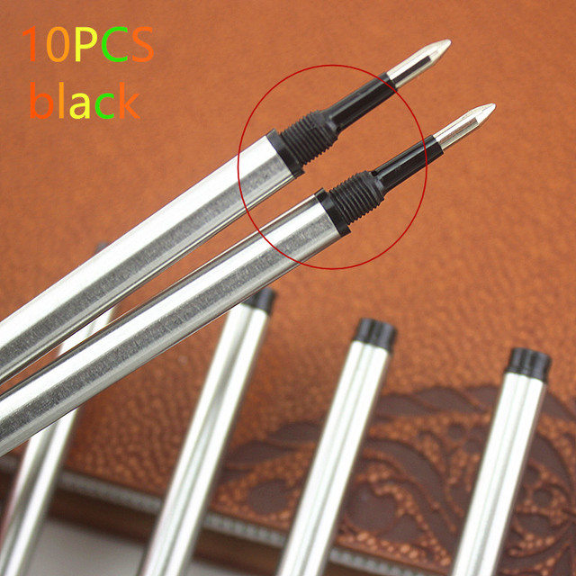 REFILLS 10 PCS JINHAO HIGH QUALITY FOR ROLLER BALL PEN 0.5MM POINT BLACK INK FOR CHOOSE FREE SHIPPING