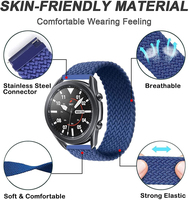 20mm/22mm Braided Solo Loop Strap for Samsung Galaxy watch 4 3/46mm/42mm/active 2/Gear S3 bracelet Huawei watch GT/2/2e/Pro Band 2