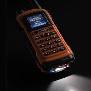 Image 4 - SENHAIX Walkie Talkie Bluetooth GP8800 ham, impermeable, TPU, Bluetooth, programación, transceptor con reflejos LED