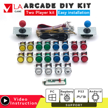2 player arcade kit placa zero delay usb to PC Rasberry PI arcade machine sanwa joystick led push button for mame jamma project arcade angular 12v illuminated led push button with micro switch for mame jamma mulitarcade machines