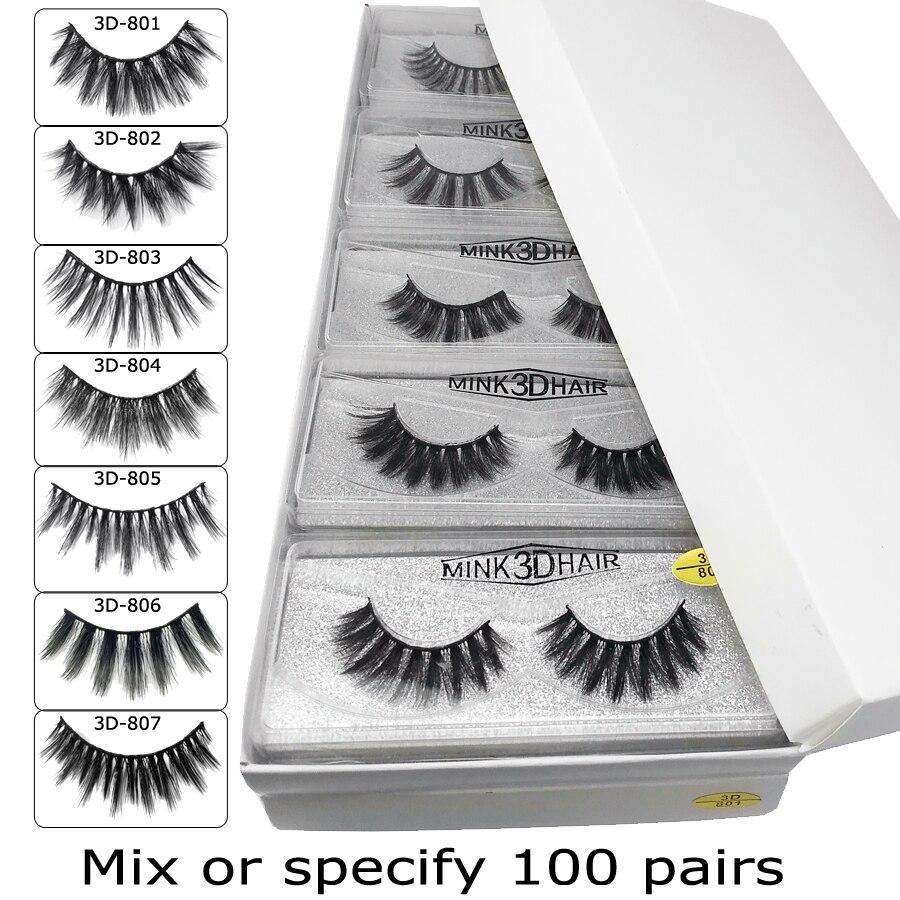 atacado vison cilios 20 30 50 100 pares 3d vison cilios extensao cilios posticos naturais maquiagem