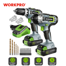 Driver-Set Power-Tool Compact-Drill WORKPRO Cordless Fast-Chargering-Batteries And 20V
