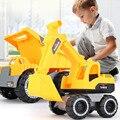 Классическая Детская модель инженерного автомобиля, Игрушечная модель экскаватора, Игрушечный трактор, модель самосвала, игрушечный мини-...
