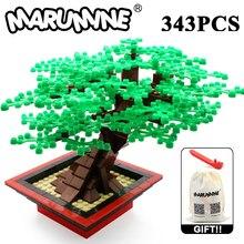 Marumine MOC Building Blocks Bricks Miniature Tree Set 205/343PCS Plant Accessories Grass Parts Blocks Decoration MOC Model