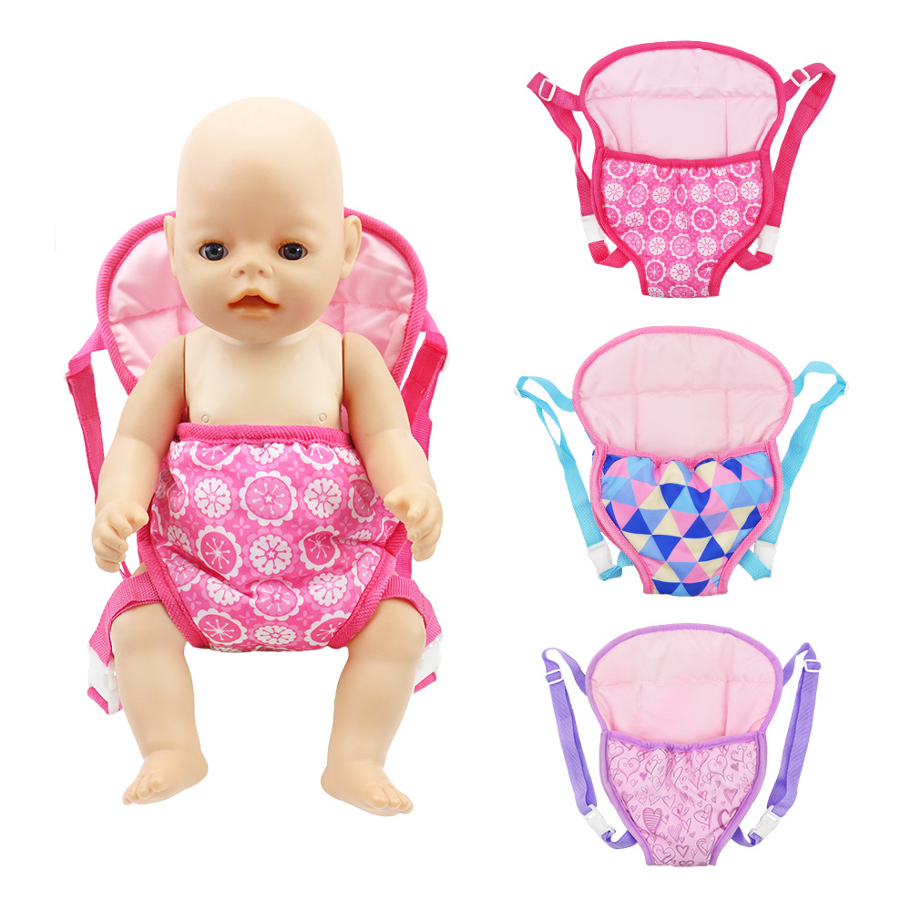 Outdoor Shoulder Bags Fit For 43cm Dolls Baby 17 Inch Reborn Bobies Accessories