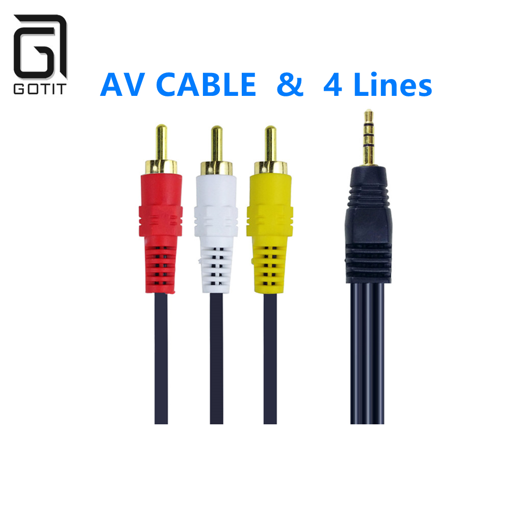 Av cabo 4 linhas para v8 nova receptor de satélite para receptor satélite digital DVB-S DVB-T2 fta newcamd frete grátis