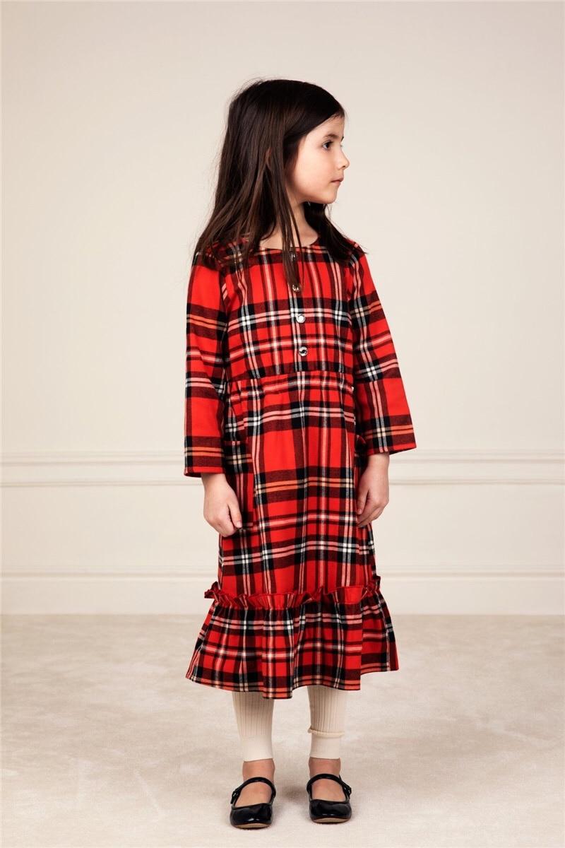 2021 New Autumn Winter Rose Note Dresses MR Brand Baby Girl Clothes Christmas Dress Kids Toddler Girls Cardigan Children Fashion 6