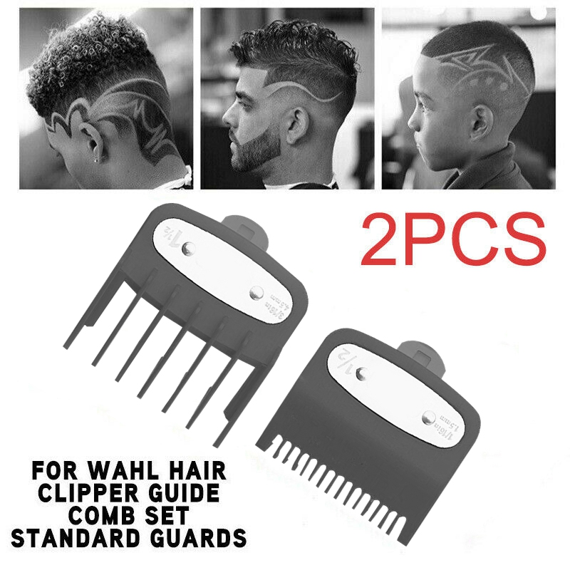 AD-2Pcs Hair Clipper Limit Comb Guide 1.5mm/4.5mm Size Barber Replacement for Wahl