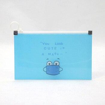 Portable children's transparent bags for face masks