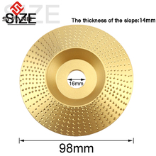 98mm Steel Wood Angle Grinding Wheel Sanding Carving Rotary Tool Abrasive Disc for Grinder 16mm Bore