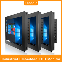 Feosaid 19 inch 21.5 Industrial Computer Monitor 19 23.6 Resistance Touch screen display Tablet Monitor VGA HDMI input for pc