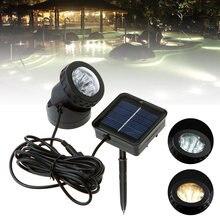 1x Солнечная 6led подводная лампа прожектор для наружного садовая