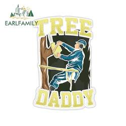 EARLFAMILY 13cm x 12.7cm for Arborist Daddy Tree RV Car Stickers Laptop Decal Windshield Personality Motorcycle Car Assessoires