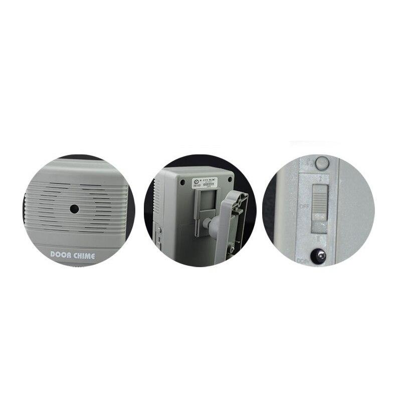Купить с кэшбэком Home Welcome Doorbell Wireless PIR Motion Sensor Alarm / Visitor Customer Chime Doorbell w/0.7 inch LCD Counter 36 Songs