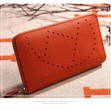 купить Classic Designer Genuine Cowhide Leather Women Wallet Fashion Unisex Clutch Bags Large Capacity Ladies handbag Purse Men Wallets по цене 2286.76 рублей