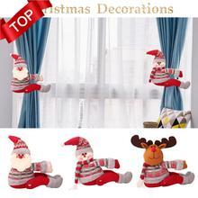 Новые рождественские украшения для занавесок, рождественские украшения Санта Клауса, украшения для окон, рождественские подарки, праздничная атмосфера