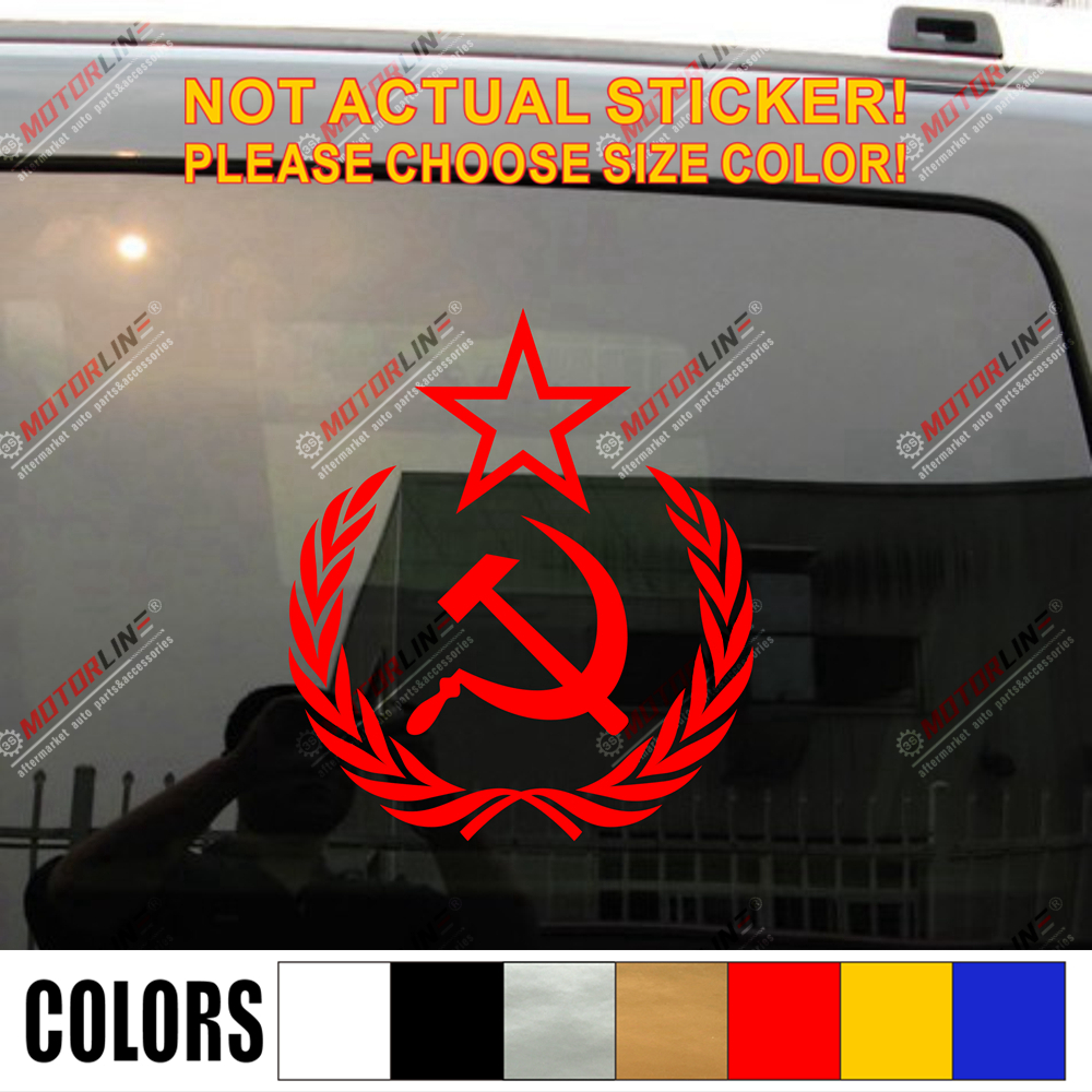 CCCP Soviet Union Hammer Sickle Russia USSR Decal Sticker Car Vinyl pick size