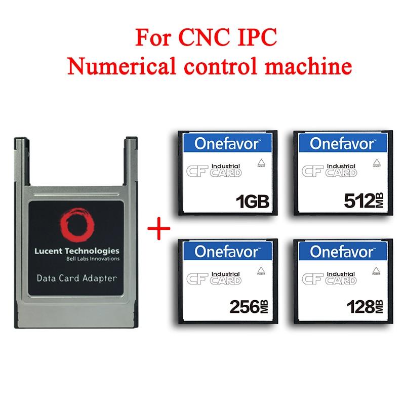 Высококачественная компактная флеш-карта объемом 128 Мб, 256 Мб, CF-карта объемом 1 Гб, 2 Гб, карта памяти для станка ЧПУ IPC с ЧПУ, адаптер PCMCIA