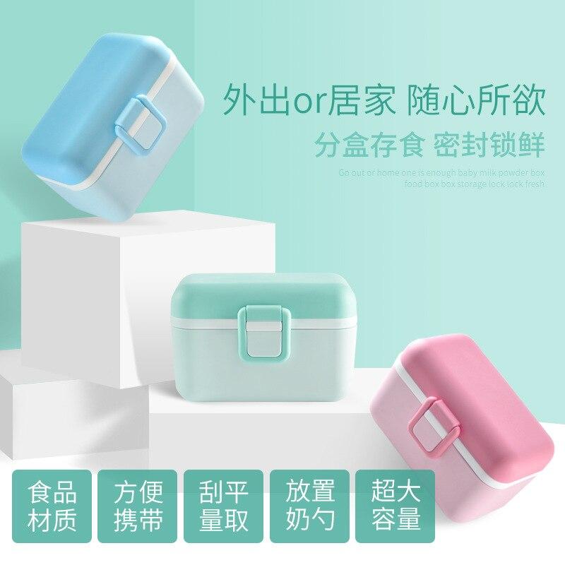 Milk Box Infant Nursing-Milk Powder Carrying Case Large Capacity Storage Box Nursing Tank Separately Packed Case Baby Milk Conta