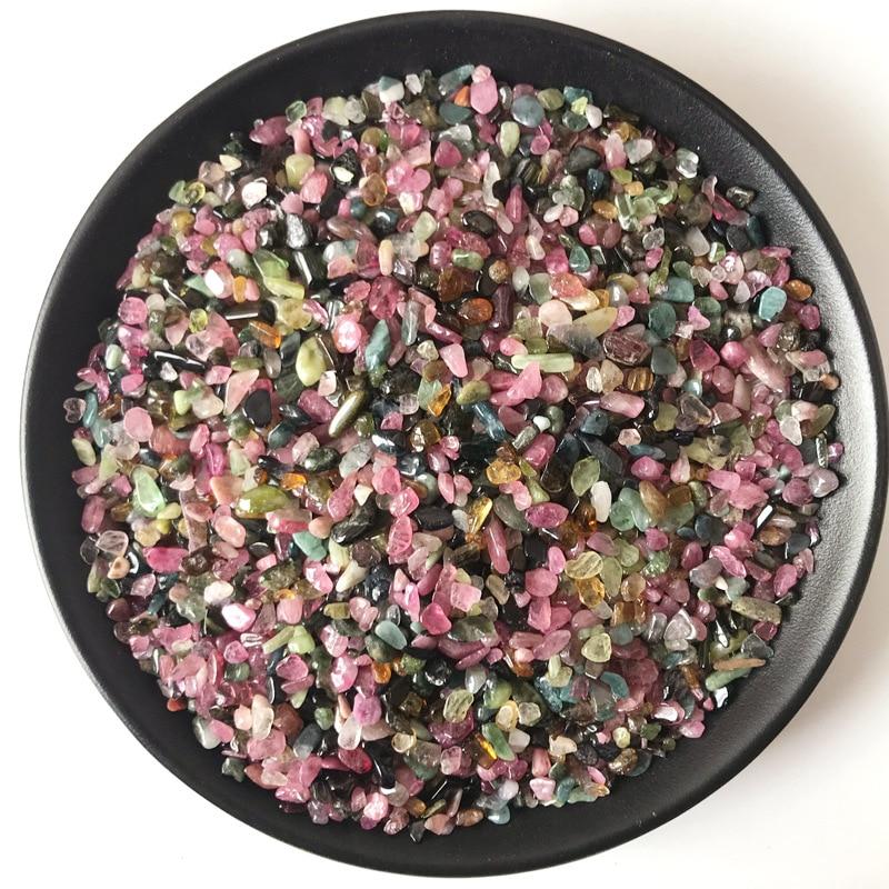 100 г 3-5 мм разноцветный Турмалин круглой огранки натуральный кристалл камни в форме гравия камни бусины для ювелирных изделий браслетов оже...