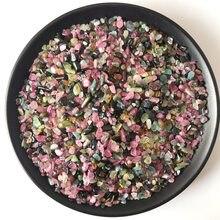 100g 3-5mm sortidas cor turmalina corte redondo cristal natural pedra cascalho forma grânulos de pedra para jóias pulseira colar diy