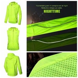 Image 5 - QUESHARK chaquetas de ciclismo a prueba de viento para hombre y mujer, ropa de ciclismo impermeable, camisetas sin mangas de manga larga