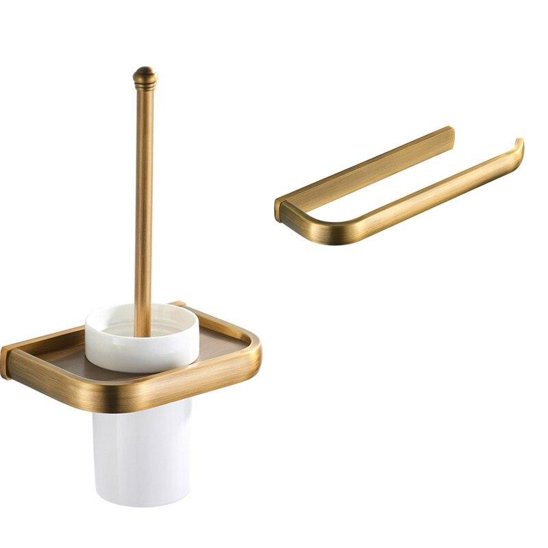 Toilet Roll Paper Holder Brushed Bronze