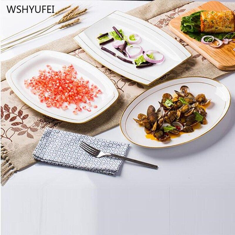 1pcsBone porcelaine or dessin fruits assiette soucoupe thé assiette Dessert dîner assiette vaisselle ensemble mariage vacances cuisine fournitures