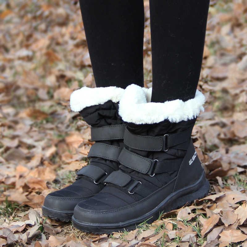 2019 Yeni Gelenler Sıcak Kar Botları kaymaz Ayak Bileği Snowboots Kadınlar Için 2 Renkler EUR 35-40