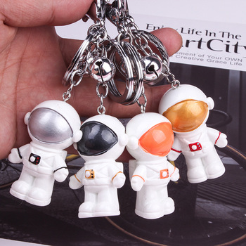 1Pc new Creative high quality Astronaut Small bell keychain bag Pendant Action Figures Toy Models Collection Toys gift image