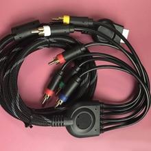 ทีวีเสียง AV MULTI OUT อุปกรณ์เสริมตะกั่ว 1.8 M 1080 P HD เกมเชื่อมต่อส่วนประกอบสำหรับ SONY คอนโซล
