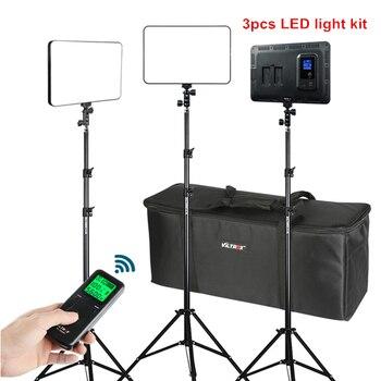 "VILTROX 3/2pcs VL-400T 40W LED Video Light Bi-color Dimmable Wireless remote Lighting Kit+75"" Light Stand for studio shooting"
