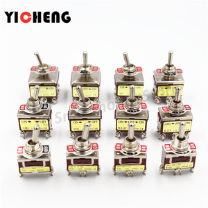1Pcs High quality 12mm toggle switch handle switch momentary toggle /Self-locking toggle Copper feet flame retardant shell SPDT
