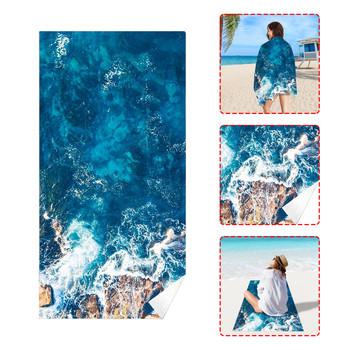 Ręcznik plażowy tropikalny nastrój miękki ręcznik szybkoschnący ręcznik kąpielowy ręcznik do sauny szybkoschnący ręcznik basenowy ręcznik plażowy koc tanie i dobre opinie CN (pochodzenie) SPORT SQUARE BAWEŁNA Z WŁÓKIEN CZESANYCH Rectangle można prać w pralce 15 s-20 s Zwierząt Poliester Bawełna