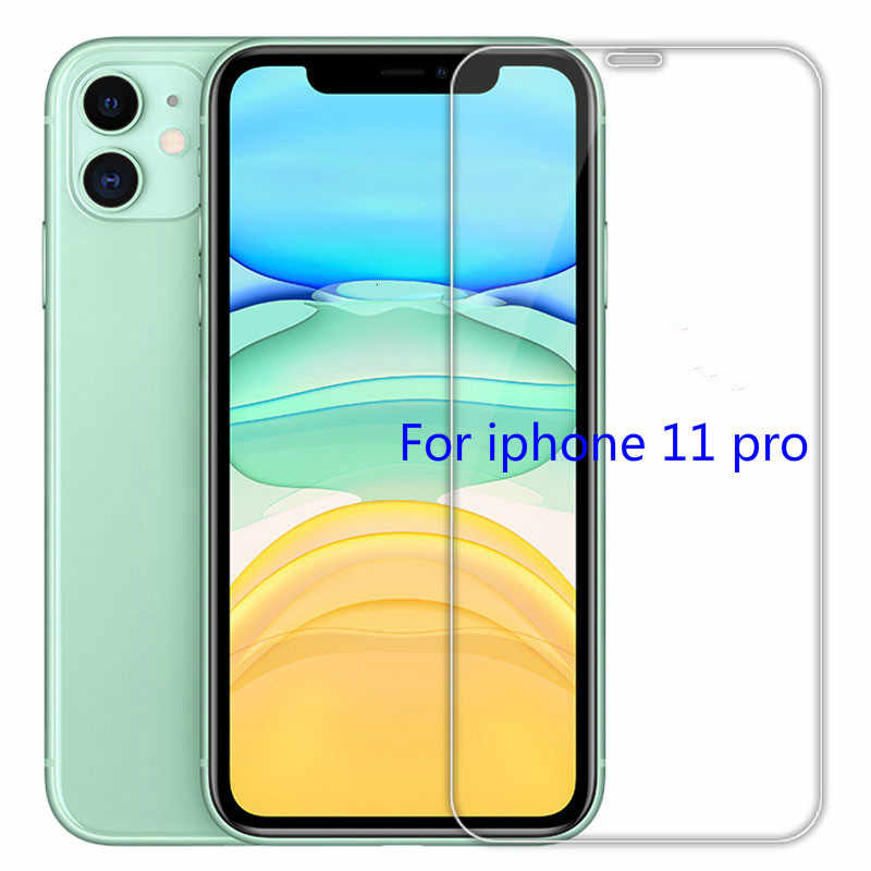 Vidro temperado para iphone 11 pro x xs max xr 5 5S se protetor de tela para iphone 8 6 s plus 4S película protetora para iphone 7 plus