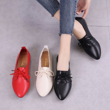 Ladies Shoes Loafers Slip On-Ballet Spring Women Female Big-Size Genuine-Leather Cutout