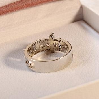 14K Rose Gold Round Diamond Ring for Women Gift Fashion Anillos Wedding Gemstone Bizuteria 925 Sliver Topaz Rings Fine Jewelry 4