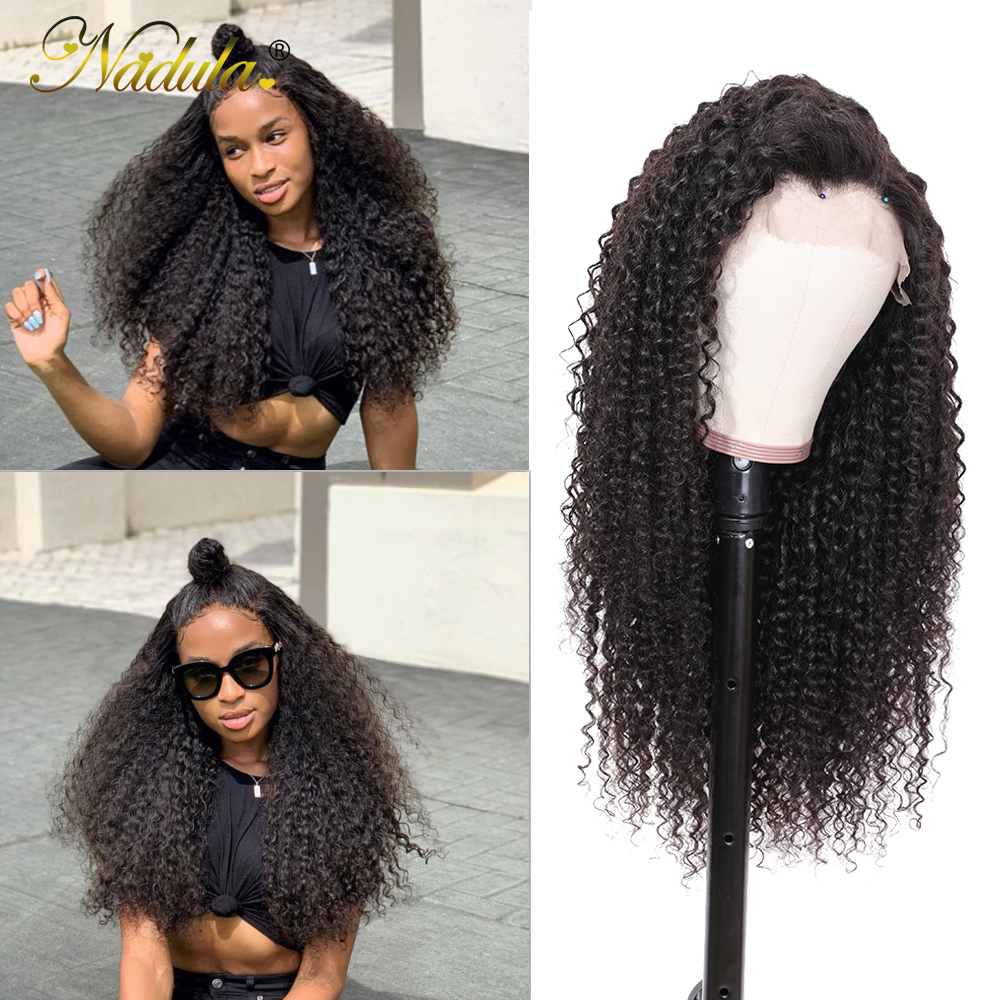 Image 2 - Nadula Curly Human Hair Wig 13*4/6 Brazilian Wigs Lace Front Remy Hair Swiss Lace Frontal Wig Natural Hairline With Baby Hair-in Human Hair Lace Wigs from Hair Extensions & Wigs