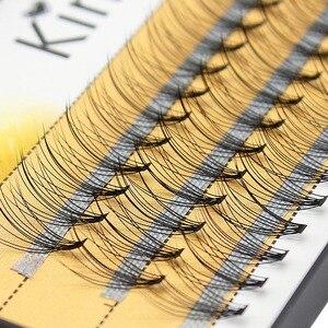 Image 1 - Kimcci profesyonel kirpik uzatma doğal el yapımı 10D vizon makyaj bireysel küme göz Lashes aşılama yanlış kirpik