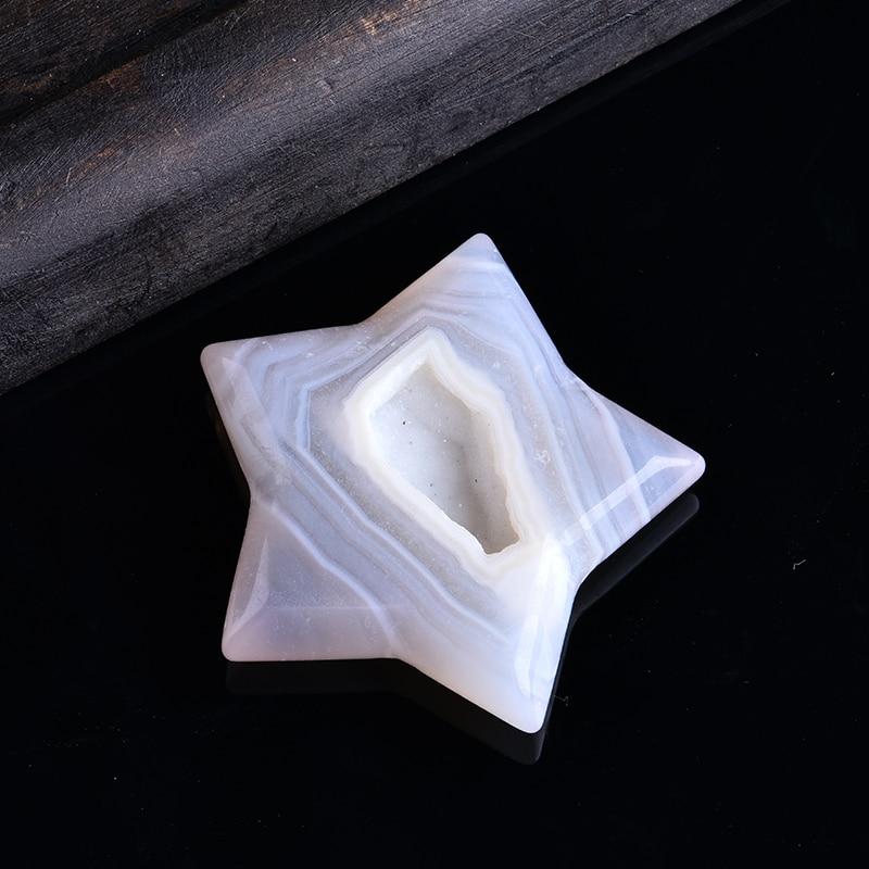 1 шт. нежный драгоценный камень, минеральные ювелирные изделия, агат с хрустальными зубцами, пятиконечная звезда-хранитель, украшения для до...